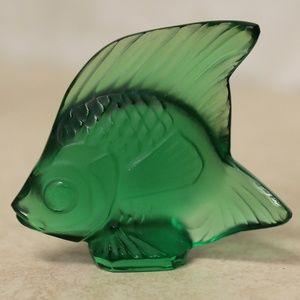 Lalique Crystal Green Emerald  Poisson Fish